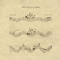 Prelude to a Storm Art Print by John Tibbott Music Pics, Music Artwork, Music Pictures, Music Stuff, Music Jokes, Music Humor, Sheet Music Art, Piano Music, Music Music