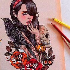 Cool illustration by Rik Lee ~ Artist