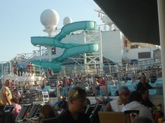 Water slide on The Carnival Conquest