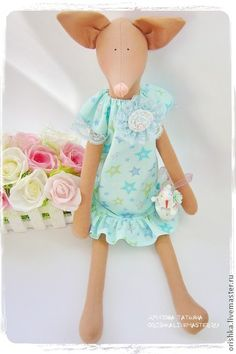 Куклы Тильды ручной работы. Ярмарка Мастеров - ручная работа Лисичка. Handmade.