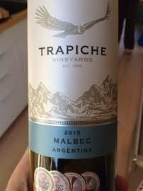Average of 86.7 points in 6 community wine reviews on 2013 Trapiche Malbec, plus professional notes, label images, wine details, and recommendations on when to drink.