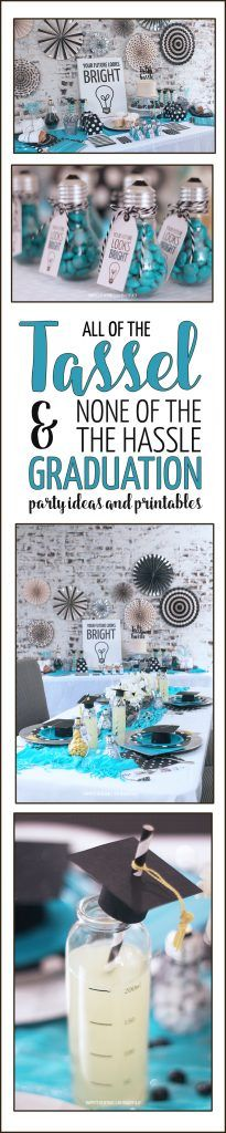 All of Tassel & None of the Hassle Graduation Party Ideas including FREE printables and a chance to win $1000 in prizes from @EVITE Venders & My M&M'S® @MYMMS #Evite #BeThere #ad #mymms