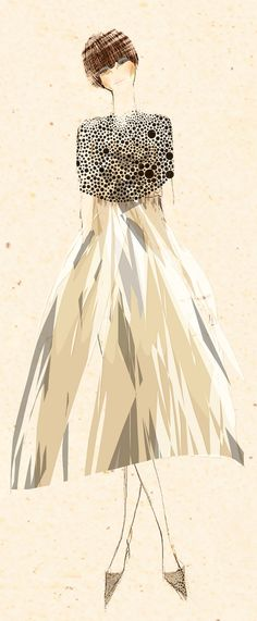 fashion illustration by tommy pang   Flickr by  ambitiousoutsider