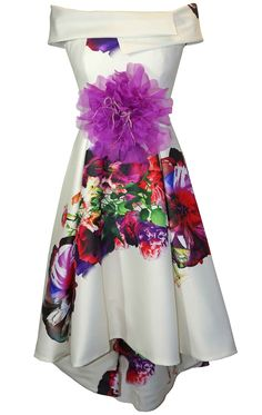 f94abb5514734 94121 - Carla Ruiz 94121, Floral Print hi low dress by Carla Ruiz Now in