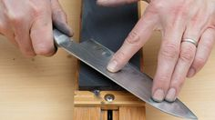 There's a big difference between running your knife along a sharpening stone and actually sharpening it. Here's how much pressure a Master Bladesmith recommends you need when you're sharpening a knife with a whetstone.