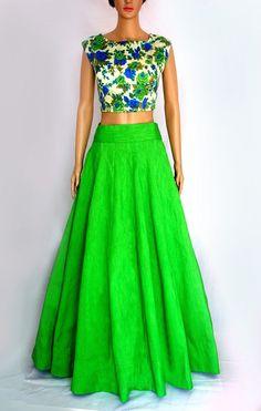 Art+Silk+Green+Semi+Stitched+Lehenga+-+17945 at Rs 1099