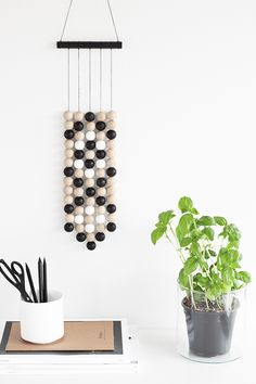 diy wooden balls wall hanging