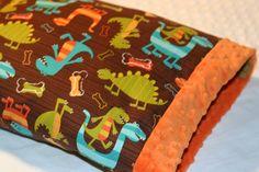 Dinosaur Dino Dudes Minky Baby Blanket With by RazzberryGiggles, $34.50