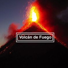 Volcán de Fuego is an one hour bus ride from Antigua, Guatemala. Hike up the of Volcano Acatenango to see the active Volcano Fuego erupting. Active Volcano, Bus Ride, Movie Posters, Movies, Antigua, Volcanoes, Fire, 2016 Movies, Film Poster