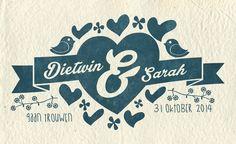 Stempel voor uitnodiging bruiloft (stamp for wedding invitation). From: http://www.rotterdam-vormgeving.nl, grafische vormgeving uit Utrecht!