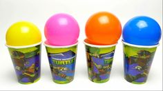 Balls Surprise Cups with Kinder Surprise Egg Disney Princess and Garfield