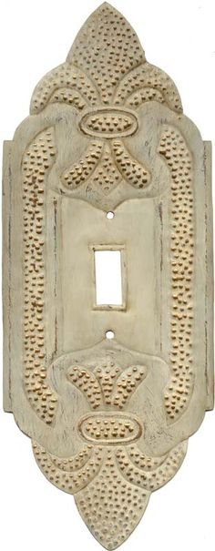 Fleur de Lis White Light Switch Plates, Outlet Covers, Wallplates