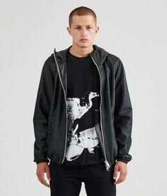 Mads Nørgaard - Jacket, Sports Leather Caspar, Black Ss16, Bomber Jacket, Menswear, Sports, Leather, Jackets, Collection, Black, Fashion