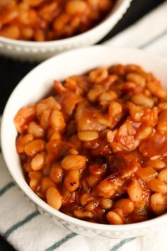 The perfect summer barbecue side dish: Sweet and Spicy BBQ Beans made from scratch in your Instant Pot, no soaking required.