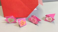 Origami Conversation Hearts Action Toy - Print at Home