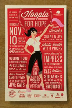 Type heavy poster with full-sized image of the female form...