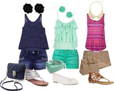 """""""Comfortable shorts outfits"""" by esperanzandrea ❤ liked on Polyvore"""