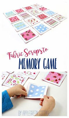 A DIY fabric memory game is a fun and easy-to-sew DIY game for kids and adults alike. You can make your own if you know how to sew a straight line! Grab a few fabric craps and go for this easy beginner sewing project! Makes a great DIY birthday present, s
