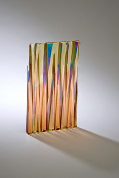 Twilight in hand-cast glass with dichroic inclusions by Ruth McCallum-Howell
