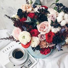 All you need is love and a cup of coffee <3 how to start your day right. Good morning breakfast and flowers