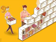 brickbox | Home » Decoration , Design » BrickBox : Bibliotheque Modulable