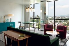カーサファイエット、グアダラハラ、デザインホテル™のメンバー - スイートのリビングエリア