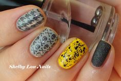 Halloween Mani: I Love Nail Polish So Ghoul, stamping with Vivid Lacquer plates 001 and 005.