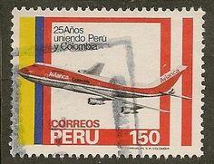 Peru Scott 787 Plane Used .50