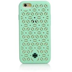 Tory Burch Perforated Silicone iPhone 6 Case (100 BAM) ❤ liked on Polyvore featuring accessories, tech accessories, phone cases, cases, electronics, iphone, apparel & accessories, mint, tory burch and tory burch tech accessories