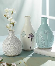 Look what I found on #zulily! Spring Bud Vase - Set of Three by Grasslands Road #zulilyfinds
