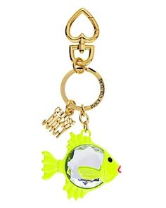 Faceted Fish Key Fob - cute keychain! - juicy couture
