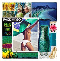 """Rio Baby!!"" by kiwipeach ❤ liked on Polyvore featuring Shoshanna, Dolce&Gabbana, Steve Madden, Prada, Hanut Singh, hotdress, rio, Packandgo and RioGames"