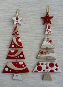 - Nothing sweeter - Inkspired Treasures - Crafts with clay - . - – Nothing sweeter – Inkspired Treasures – Crafts with clay – # - Christmas Makes, Noel Christmas, Christmas Ornaments, Red Ornaments, Ceramic Christmas Decorations, Christmas Tree Decorations, Ceramic Christmas Trees, Polymer Clay Christmas, Polymer Clay Crafts