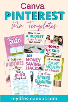Grab these easy to edit Pinterest Pin Templates in Canva for bloggers. When you join the Pinterest Pin Templates subscription, you will receive 10 pre-made pin templates for just $5 per month.  If you are blogging seriously and want to grow your blog fast, create new pins consistently using our templates so you always have fresh and new Pinterest Pins that drives traffic back to your site. #blogging #pinterestmarketing #pinteresttemplates #canvapins #canvatemplates #pinterestpins #bloggingtips Make Money Blogging, How To Make Money, Chores For Kids, Goals Planner, Pinterest Pin, Free Blog, New Pins, Pinterest Marketing, Blog Tips