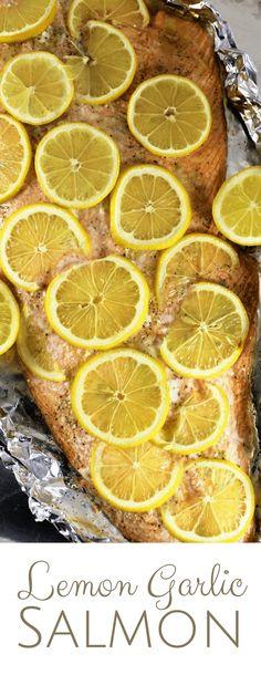 Lemon Garlic Salmon   Healthy   Simple