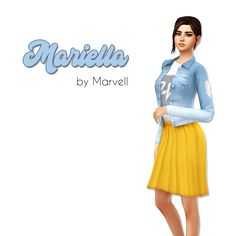 """marvell-world: """" marvell-world: """" Mariella Outfit Hey you lovely Simmers! Today I have this little mesh edit of the Base game outfit for you. Sims 4 Cas, Sims Cc, Maxis, Edgy Outfits, Jean Outfits, Sims 4 Studio, Sims 4 Cc Makeup, Sims 4 Clothing, Sims Mods"""