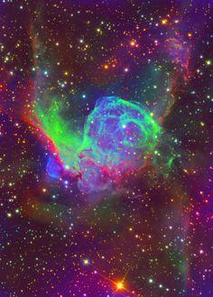 """Thor's Helmet Nebula"" by Starstuff"