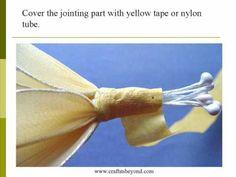 Nylon flower instruction - Tulip http://www.youtube.com/user/chasechan8