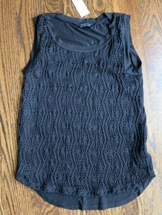 Papermoon Fulford Textured Knit Tank. Not crazy about it being black, but love the texture on the front!