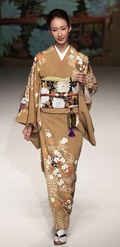 # 9: Yukiko Hanai designed this silk kimono and obi. 2012, Japan