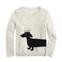 Girls' dog sweater for N