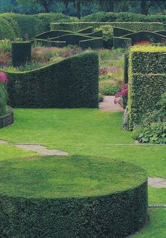 formal curving hedges, Piet Ouldof