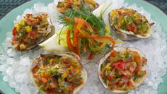 Love making clams casino with the clams we find in the bay. Italian Recipes, New Recipes, Cooking Recipes, Favorite Recipes, Clams Casino, Florida Food, Elegant Appetizers, Scampi, Recipe Details