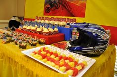 Food table for motocross party