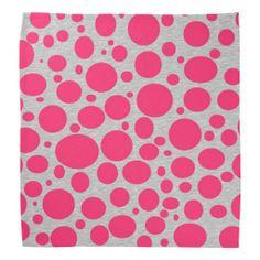 Hot Pink Bubbles Bandana