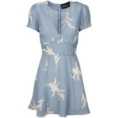 The Luella Summer Loving Blue ❤ liked on Polyvore featuring dresses, blue dress, luella dress, luella, day summer dresses and blue day dress