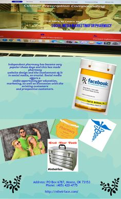 Ntheirface is a great online marketing pharmacy today in OKC. Their social media marketing, pharmacy website design will be very helpful for your independent pharmacy. Their best marketing platform help to achieve your business goals by latest software and technology & also offer you Pharmacy SEO service.