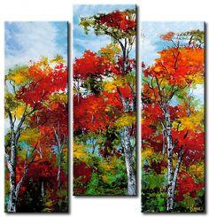 Zobacz obraz Nadchodząca jesień oraz inne ozdoby w galerii bimago - obrazy na ścianę, tryptyki, reprodukcje i i zdjęcia na płótnie.