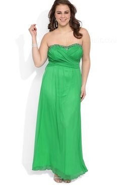 aaa455b713a ihomecoming.com SUPPLIES Pretty Strapless A-Line Beading Plus Size Charming  Homecoming Dress Sweet