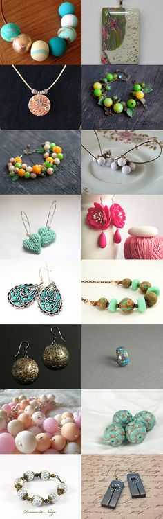 Polymer Clay Jewelry by Donna on Etsy